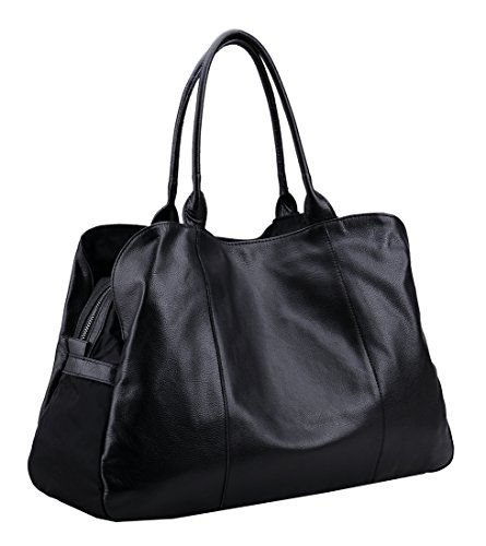 Heshe Women's Handbags Black Shoulder Hobo Tote Top Handle Purses Travelling Bags Large Capacity
