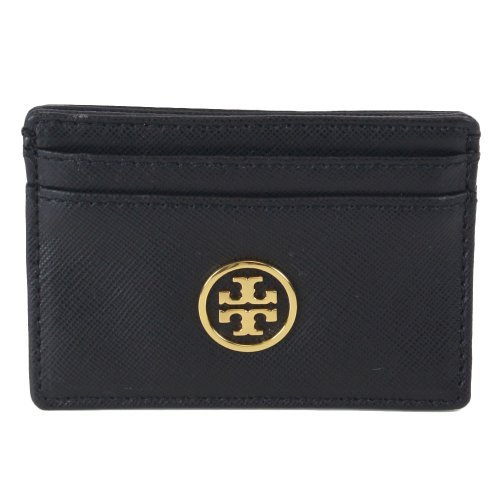 Tory Burch Robinson Business Slim Card Case Black