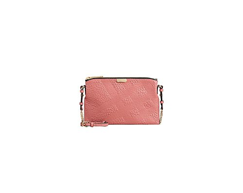 Burberry Peyton Check Embossed Leather Clutch Bag – Antique Rose
