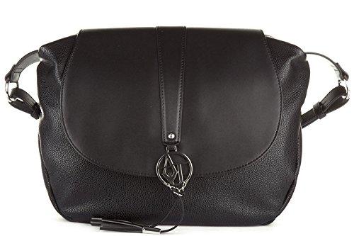 Armani Jeans women's cross-body messenger shoulder bag black