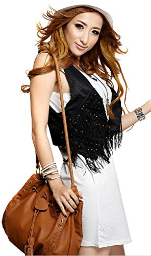 ILISHOP Hot Sale Women's Fashion Summer Bucket bags Drawstring Handbag Cross-body (Brown)