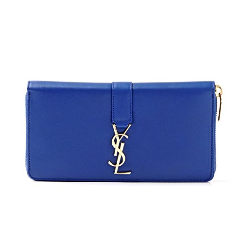 SAINT LAURENT PARIS Croc purse LEATHER BLUE MAJORELLE