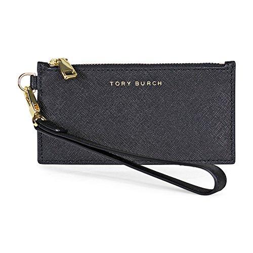 Tory Burch York Zip Leather Card Case – Black