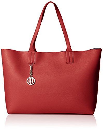 Tommy Hilfiger Talia Tote Top Handle Bag, Navy/Red/White, One Size