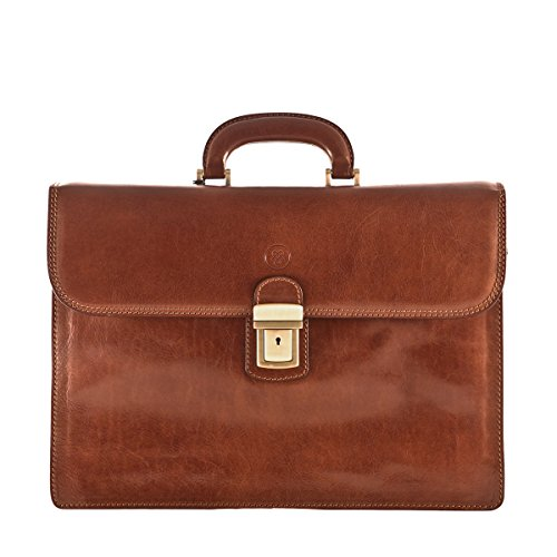 Maxwell Scott¨ Luxury Leather Briefcase (The Paolo3) – One Size