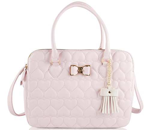 Betsey Johnson Triple Compartments Tote Bag – Blush