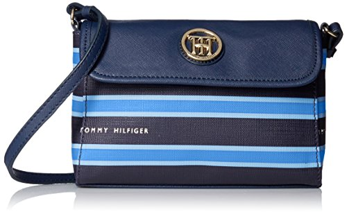 Tommy Hilfiger Hayden Stripe EW Cross Body, Navy/Monaco Blue/French Blue, One Size