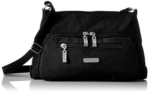 Baggallini Everyday Bagg- Solid Nylon Crinkle,Black,One Size