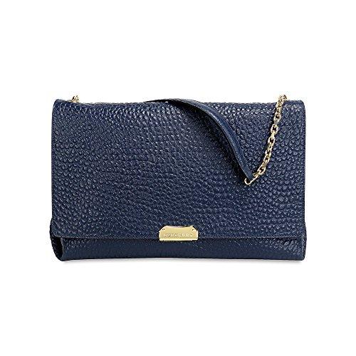 Burberry Large Grain Leather Shoulder Bag – Blue Carbon