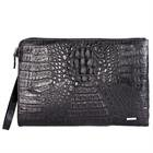 GAVADI Real Crocodole Leather Handbag for Business Men Black G514