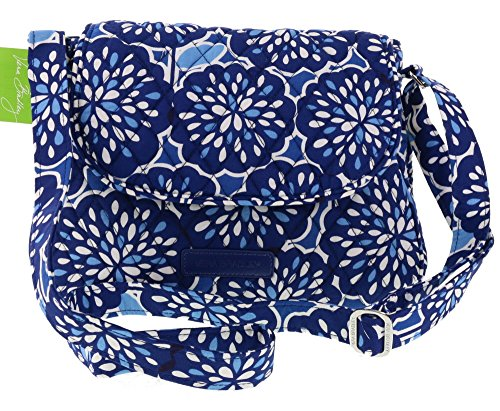 Vera Bradley Small Flap Crossbody Shoulder Bag Handbag Purse Satchel Tote in Petal Splash