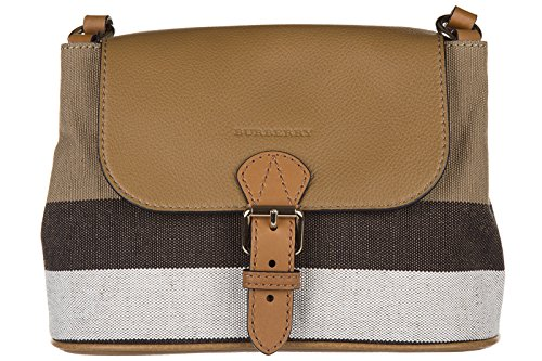 Burberry women's cross-body messenger shoulder bag brown