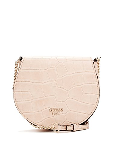 GUESS Cate Crocodile-Embossed Saddle Cross-Body