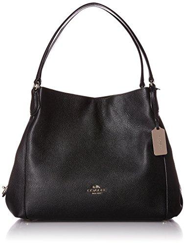 COACH Women's Refined Pebble Leather Edie 31 Shoulder Bag LI/Black Shoulder Bag