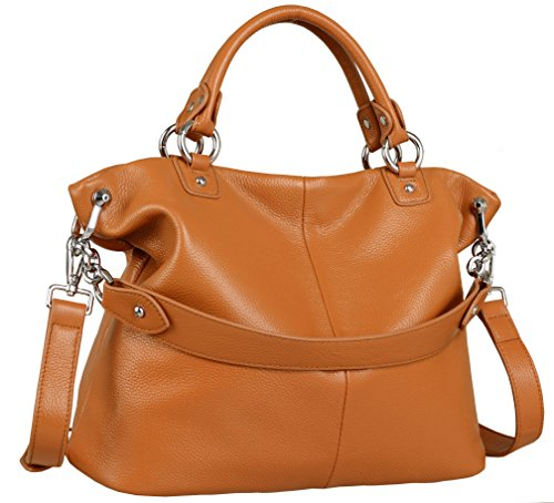 Heshe® Fashion Luxury Women Zipper Closure Top Handle Tote Handbag Shoulder Bag Cross Body Messenger Bag Large Capacity 3-Way Satchel
