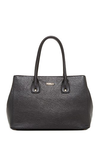 Furla Serena Medium Leather Tote Bag, Onyx