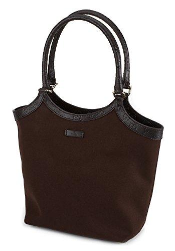 Gucci Women's Dark Brown Canvas Shoulder Bag
