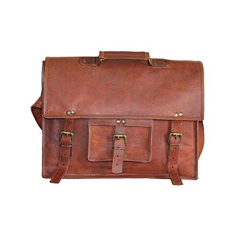 LUST Adult Leather Handmade Crossbody Shoulder Laptop Messenger Bag 15″ Inches
