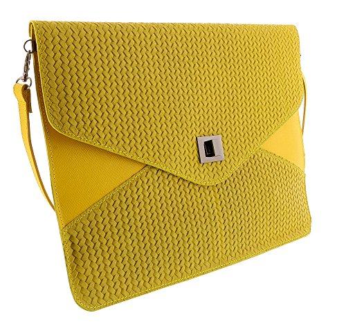 HS1154 FULVIA Leather Clutch/Shoulder Bag