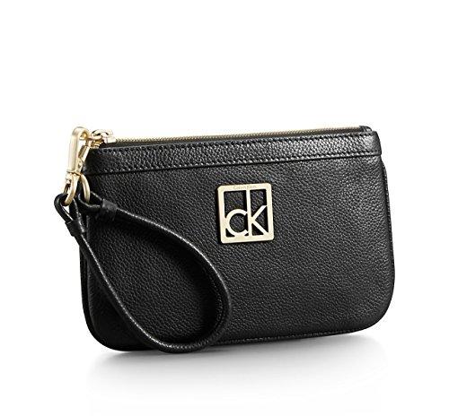 Calvin Klein Womens Leather Caitlin Lena Wristlet