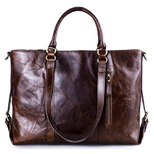 Greeniris Classic Genuine Leather Handbag