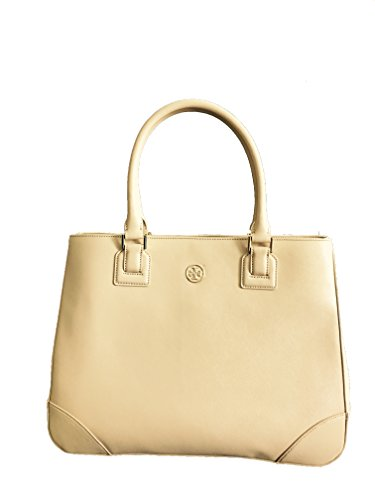 Tory Burch Robinson Leather Handbag Bag Toasted Wheat/261