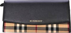 Burberry Horseferry Check Black Leather Continental Wallet 3982453