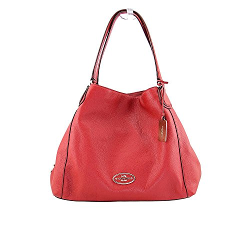 COACH Women's Refined Pebbled Leather Edie Shoulder Bag