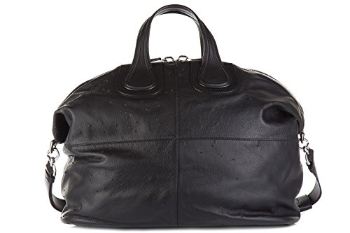 Givenchy women's leather handbag shopping bag purse nightingale black