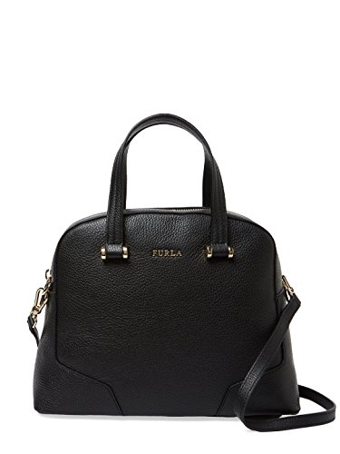 Furla Michelle Saffiano Leather Satchel Bag, Onyx, Medium