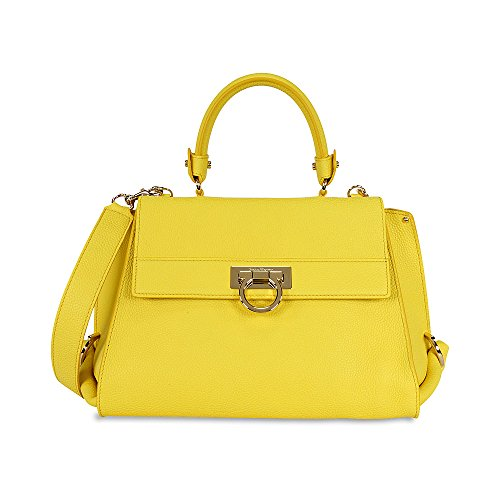 Ferragamo Sofia Medium Satchel – Mimosa