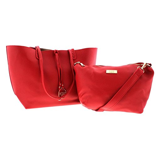BCBG Paris Womens Convertible Reversible Tote Handbag