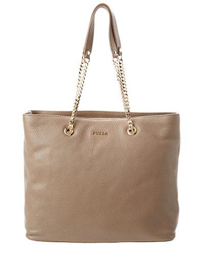 Furla Julia Leather Tote Shoulder Bag, Daino