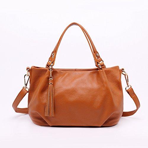 Leyan Women's Will Leather Handbag Casual Style Tote Top Handle Shoulder Cross Body Bag Satchel Purse