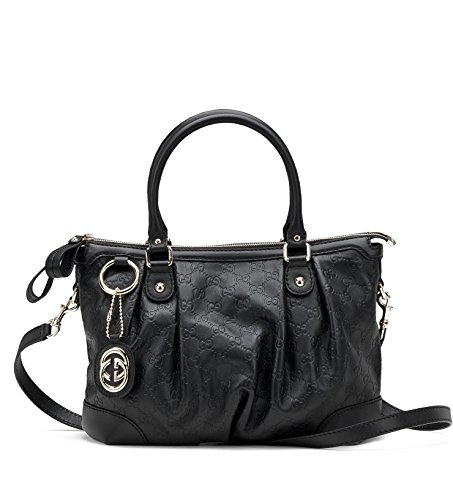 Gucci Handbag Black Guccissima Leather