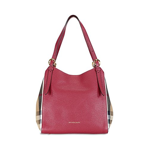 Burberry Small Canter Red Leather Tote