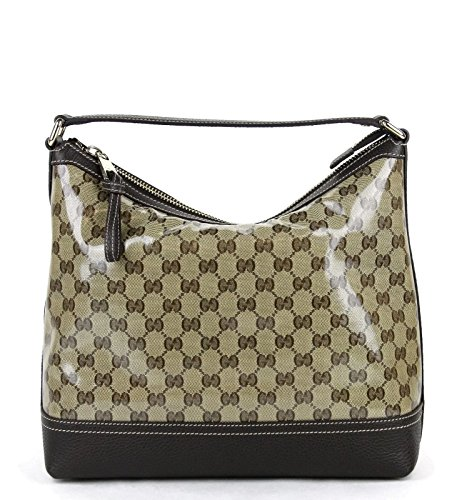 Gucci Women's Brown Crystal GG Canvas Hobo Handbag 336650 9903