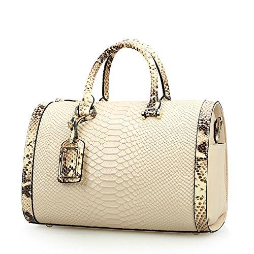 ZENTEII Women Genuine Leather Boston Handbag Satchel Hobo Tote
