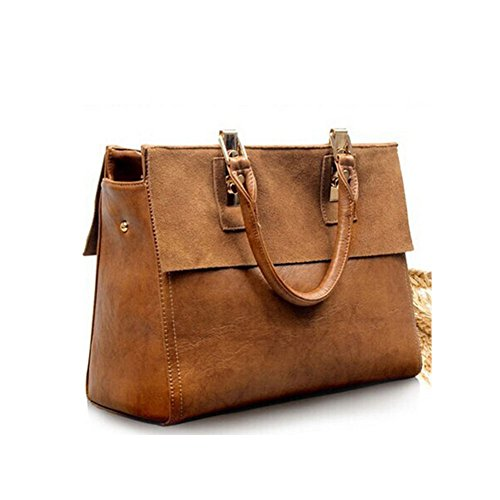 BagVenus Leather Retro Elegent Shoulder Tote Inspired Handbag