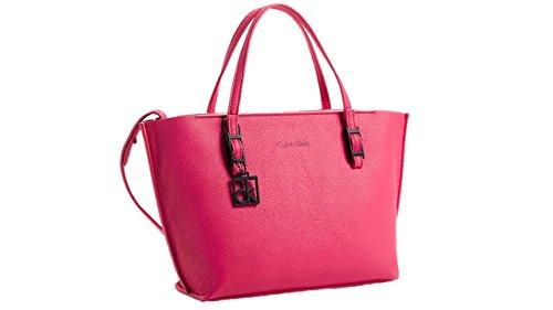 Calvin Klein Womens Hailey Studio Tote Small Bag Handbag Sangria
