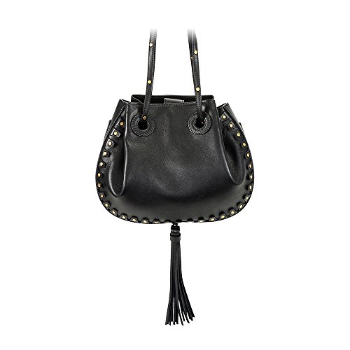Chloe Inez Leather Shoulder Bag – Black