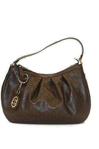 Gucci Handbag Dark Brown Guccissima Leather