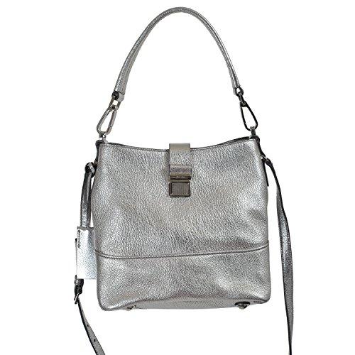 Miu Miu Women's Silver Leather Handbag Shoulder Bag
