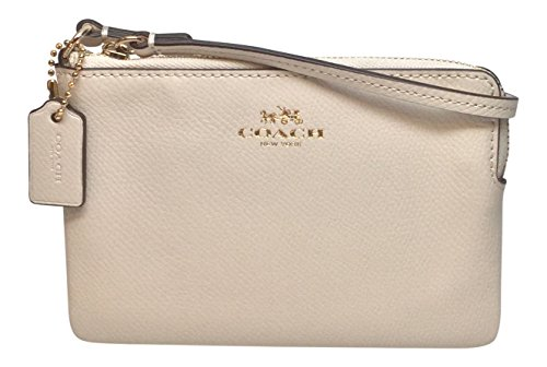 Coach Small Leather Wristlet Gold Hardware