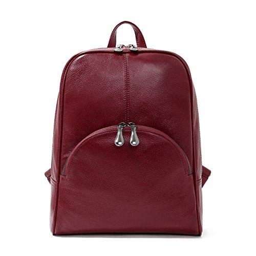 Leyan Women's Soft Leather Purse Stylish Multi-purpose Tote Top Handle Backpack School Bag Travel Handbag