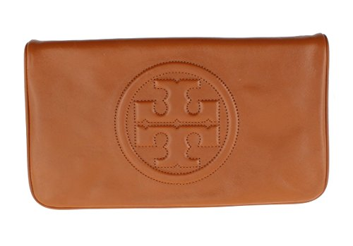 Tory Burch Leather Bombe Reva Clutch Shoulder Bag Luggage 18169698-210