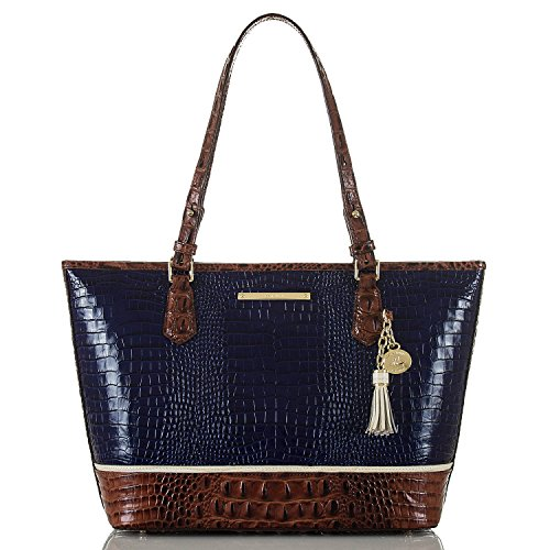 Brahmin Medium Asher Tote Bag, Ink, One Size