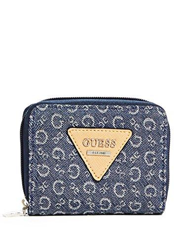 GUESS Women's Aislin Small Denim Zip-Around Wallet