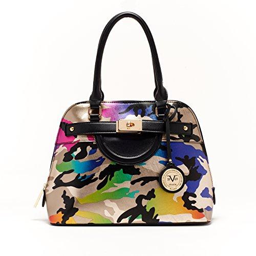 V1969 Italia Womens Designer Henley Dome Satchel Camo Handbag by VERSACE19.69 ABBIGLIAMENTO SPORTIVO SRL