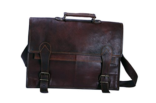 Vintage Crafts Leather Messenger Satchel Laptop Leather Briefcase Bag Leather Messenger Bag
